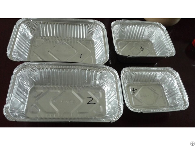 A03 For A01 And A02 Alloy 8011 3003 Aluminium Foil Takeaway Food Container Lid
