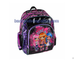 Three Girls Print School Bookbag
