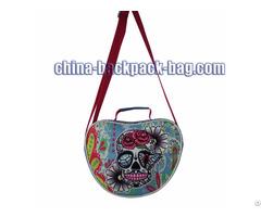Twill Fabric Shoulder Bag