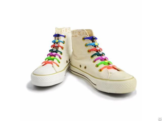 Fashionable Silicone No Tie Shoelaces 14pcs Set