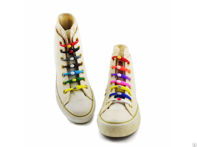 Promotional Silicone Shoe Laces No Tie Elastic Colorful