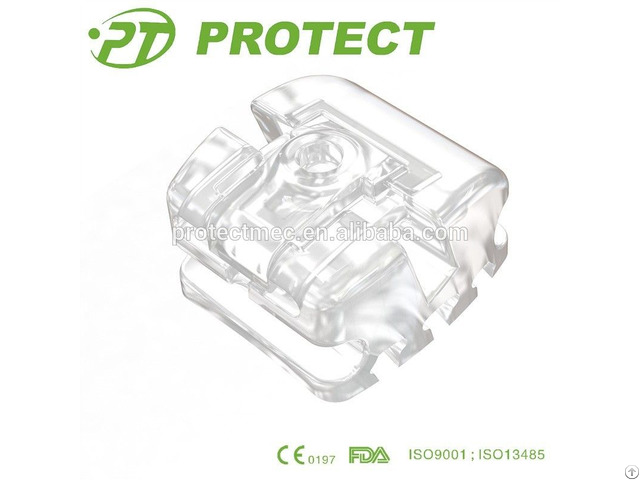Dental Damon Alike Clear Ceramic Self Ligating Brackets Orthodontics