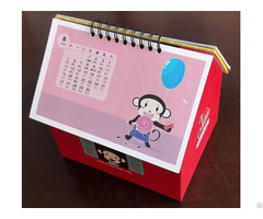 Desk Calendar With Foldable Holder