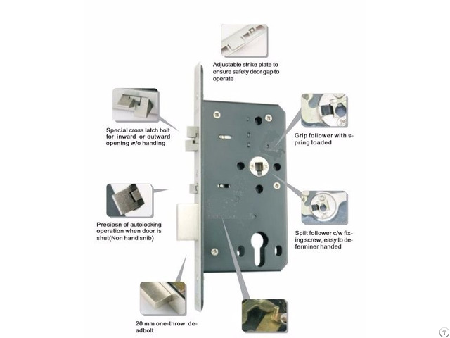 Euro Mortise Lock Td Series Er 7260tdf