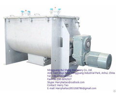 Horizontal Double Ribbon Blender Powder Liquid Mixer