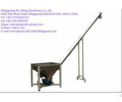 Screw Conveyor Feeder Hopper Machine For Powder