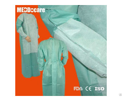 Nonwoven Reinforced Waterproof Disposable Hospital Gowns For Hospitals Suppliers