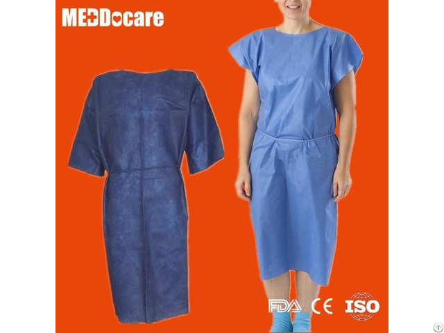 Disposable Non Woven Nurse Hospital Exam Patient Gown