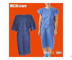 Disposable Non Woven Nurse Hospital Exam Patient Gown