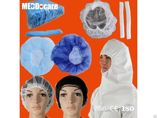 Pp Hospital Surgeon Non Woven Mob Mop Clip Surgical Medical Round Disposable Doctor Bouffant Cap