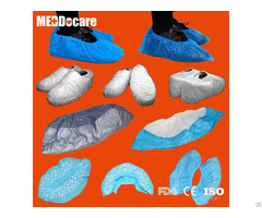 Dailyuse Pp Sms Anti Skid Waterproof Pe Cpe Disposable Blue Plastic Shoe Covers