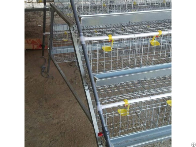 Hot Sale Layer Battery Chicken Breeding Cage With Plastic Feeders
