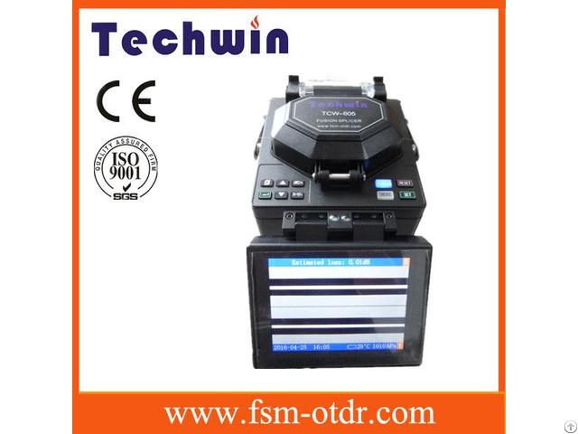 Fusion Splicer Techwin 605 Fiber Optic Splicer Equal To Fujikura Splicing Machine