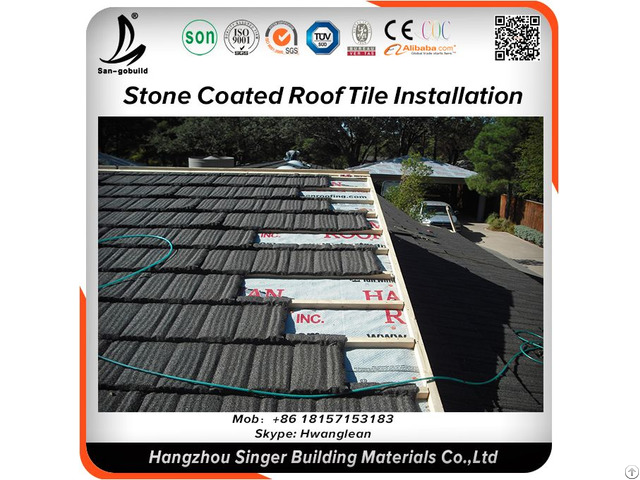 Stone Coated Roof Tile For House Plan Building Material