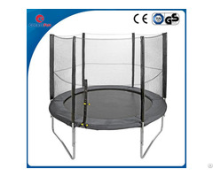 Createfun 12ft Fiber Glass Fitness Round Trampoline With Safety Net