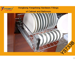 Three Fold Concealed Runner For Basket The Side Ys733a