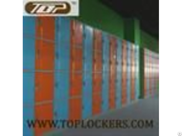 Four Tier Plastic Cabinets Abs Knocked Down Orange