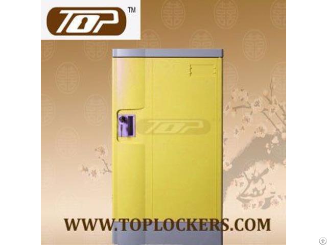 Double Tier School Lockers Abs Plastic Yellow