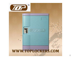 Double Tier Abs Lockers Blue Knocked Down