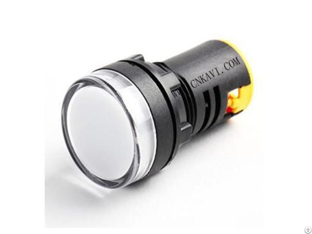 Led Pilot Lamp Signal Light Indicator 22mm Ad26b 22ds White