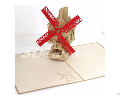 Windmill 2 3d Pop Up Greeting Card