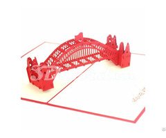Harbour Bridge 3 3d Pop Up Handmade Greeting Card