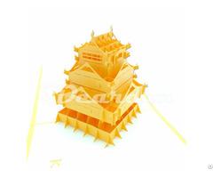 Kumamoto Japan 2 Pop Up Handmade 3d Greeting Card