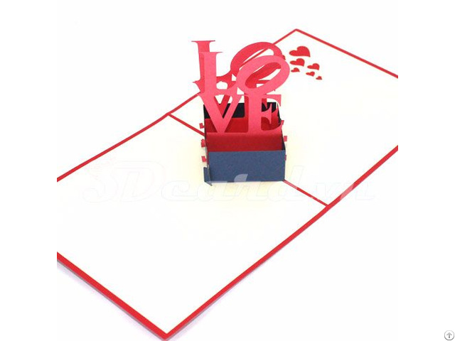 Love 3 3d Pop Up Greeting Birthday Valentine Card