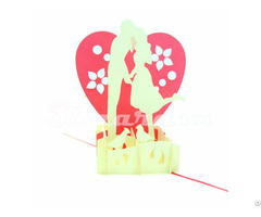 Couple With Big Heart 3d Pop Up Valentine Card