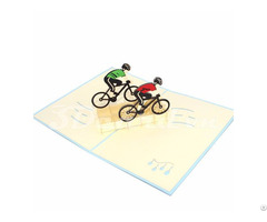 Cyclist 3d Pop Up Sport Card