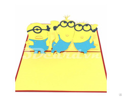 Minion 3d Pop Up Card
