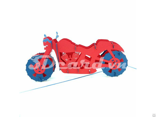Motor 3d Pop Up Birthday Card