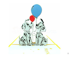 Spotted Dogs 3d Pop Up Birthday Card