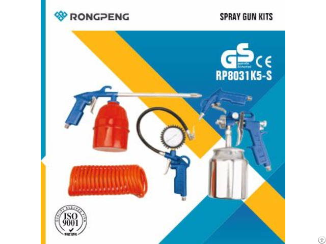 Rongpeng 5pcs Air Spray Guns Kits R8031k5-s
