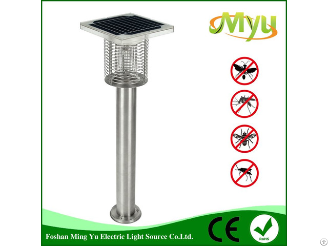 Solar Mosquitoes Bugs Zapper Built In Blue Light Led Lamp Myu 050c