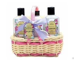 Spa In A Basket Bath Gift Sets For Men Includes Shower Gel Bubble Body Scrub Eva Puff