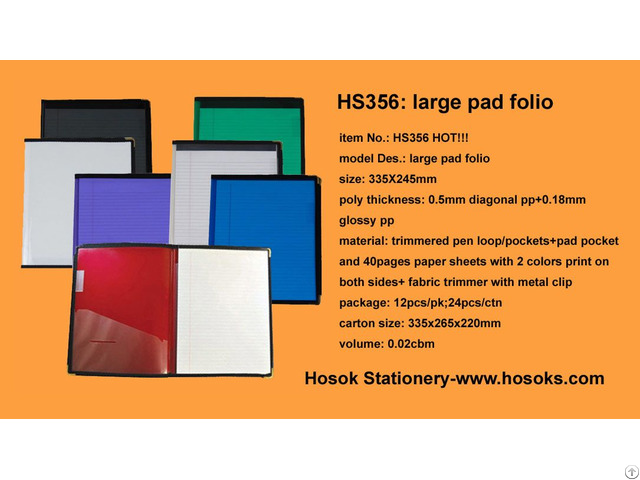 Hs356 Large Pad Folio