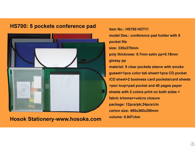 Hs700 5 Pockets Conference Pad