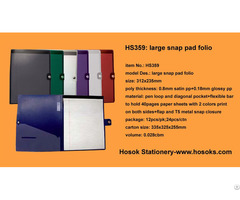 Hs359 Large Snap Pad Folio