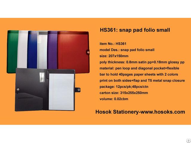 Hs361 Snap Pad Folio Small