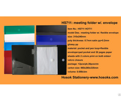 Hs711 Meeting Folder W Flexible Envelope
