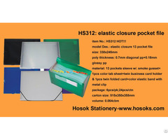 Hs312 Elastic Closure 13 Pocket File
