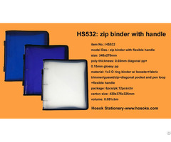 Hs532 Zip Binder With Flexible Handle