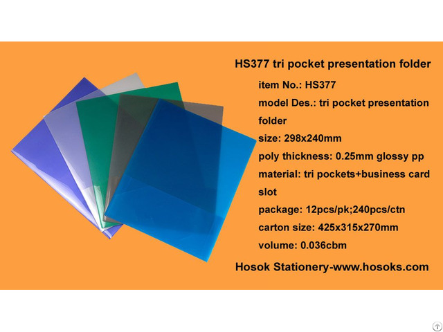 Hs377 Tri Pocket Presentation Folder