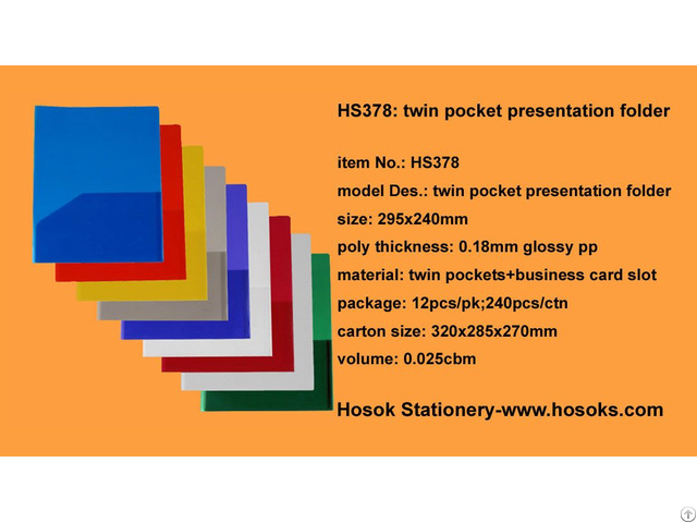 Hs378 Twin Pocket Presentation Folder