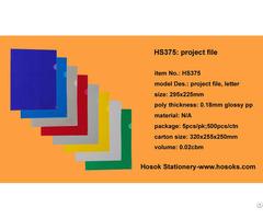 Hs375 Project File Letter