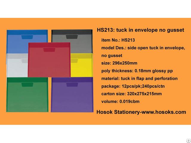 Hs213 Side Open Tuck In Envelope No Gusset