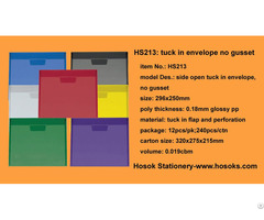 Hs213 Side Open Tuck In Envelope No Gusset