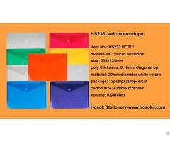 Hs233 Velcro Envelope