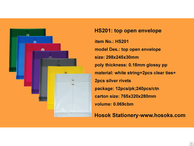 Hs201 Top Open Envelope